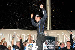 Victory lane: race winner James Buescher