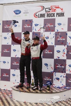 GT podium: winners Jörg Bergmeister, Patrick Long