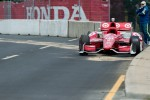 The abandoned car of Scott Dixon, Target Chip Ganassi Racing Honda