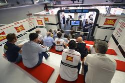 Team Gresini Honda pit box