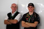 Conor Daly, Lotus GP and his father Derek Daly, - guests of the Sahara Force India F1 Team