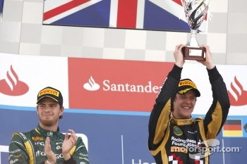 Podium: race winner James Calado, second place Giedo Van der Garde
