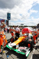 Sahara Force India F1 of Paul di Resta, Sahara Force India on the grid