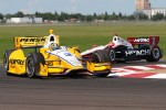 Helio Castroneves, Team Penske Chevrolet and Ryan Briscoe, Team Penske Chevrolet 