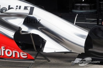 McLaren MP4/27 sidepod and engine cover