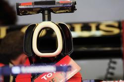 Lotus F1 Team engine cover detail