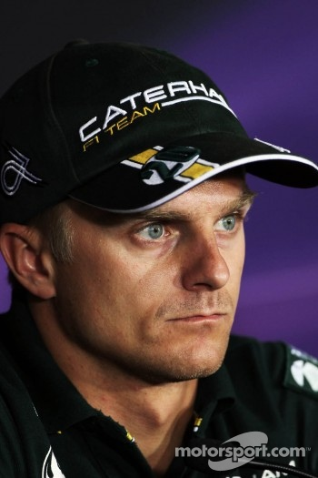 Heikki Kovalainen, Caterham in the FIA Press Conference