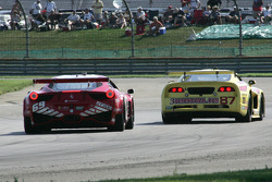 #69 AIM Autosport Team FXDD with Ferrari Ferrari 458: Emil Assentato, Jeff Segal and #87 Vechicle Technologies Viper: Jan Heylen, Tony Ave