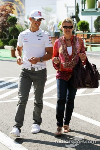 Michael Schumacher, Mercedes AMG F1 with wife Corinna Schumacher