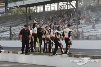 Brad Keselowski's crew celebrates