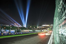 Light show at night