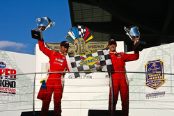 Podium: race winners Alex Popow, Sébastien Bourdais