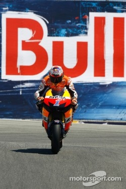 Casey Stoner on his Repsol Honda, 2012