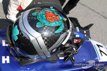 Richard Bradley's helmet