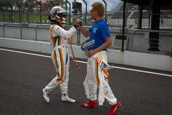 GT300 pole winners Kazuki Hoshino and Hiroki Yoshimoto