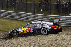 Miguel Molina, Audi Sport Team Phoenix Racing Audi A5 DTM slides into gravel