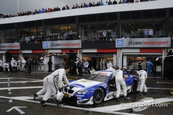 Joey Hand, BMW Team RMG BMW M3 DTM; in pit