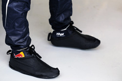 Racing boot covers for Mark Webber, Red Bull Racing