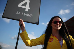 Grid girl of  Mitch Evans
