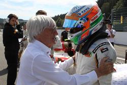 Bernie Ecclestone, and Narain Karthikeyan, HRT Formula One Team