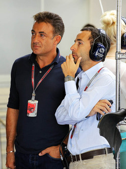Jean Alesi, with Nicolas Todt, Driver Manager