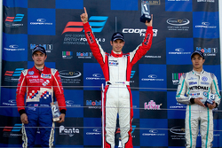 Podium From left: Jack Harvey, Felix Serralles and Jazeman Jaafar