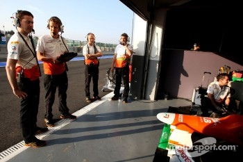 Sahara Force India Formula One Team engineers