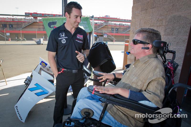 Simon Pagenaud, Schmidt/Hamilton Motorsports Honda and Sam Schmidt