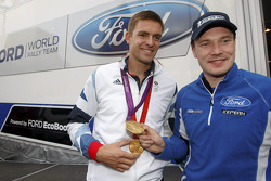 Two times Olympic Gold medalist Pete Reed with Jari-Matti Latvala