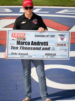 Pole winner Marco Andretti, Andretti Autosport Chevrolet