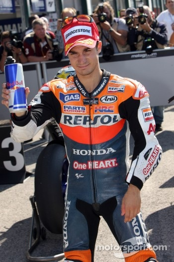Pole winner Dani Pedrosa, Repsol Honda Team