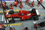 Fernando Alonso, Ferrari practices a pit stop