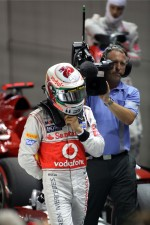 Pole winner Lewis Hamilton, McLaren