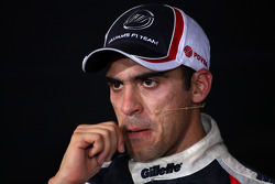 FIA press conference: second place Pastor Maldonado
