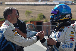 Alain Menu, Chevrolet Cruze 1.6T, Chevrolet pole position, 3rd position Robert Huff, Chevrolet Cruze 1.6T, Chevrolet and Yvan Muller, Chevrolet Cruze 1.6T, Chevrolet