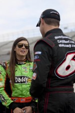 Danica Patrick and Ricky Stenhouse Jr.