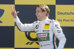 Podium: race winner Augusto Farfus Jr., BMW Team RBM