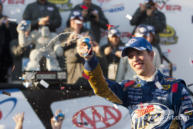 Victory lane: race winner Brad Keselowski, Penske Racing Dodge