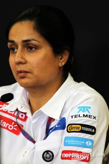 Monisha Kaltenborn, Sauber Managing Director in the FIA Press Conference