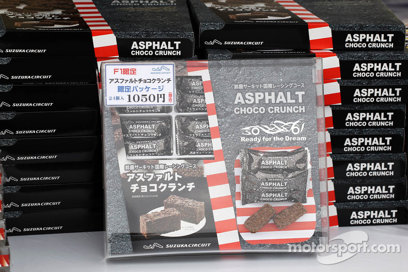 Ashphalt Choco Crunch on sale in the fans' merchandise area