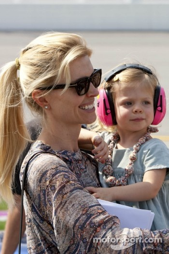 Jimmie Johnson's wife and daughter