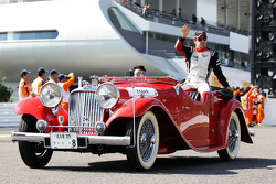 Timo Glock, Marussia F1 Team on the drivers parade