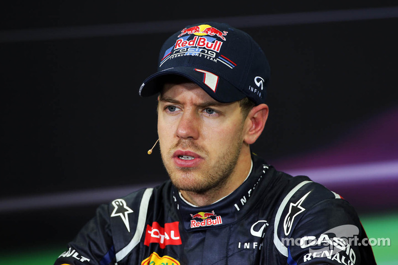 Race winner Sebastian Vettel, Red Bull Racing in the FIA Press Conference
