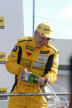 Dave Newsham on podium, 2012