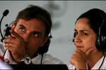 Monisha Kaltenborn, Managing director, Sauber F1 Team and Pierre Wache, Sauber F1 Team
