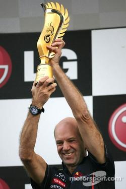 Podium: Adrian Newey, Red Bull Racing technical director