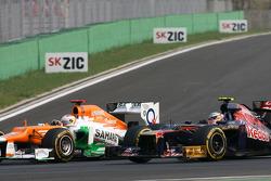 Paul di Resta, Sahara Force India Formula One Team and Jean-Eric Vergne, Scuderia Toro Rosso