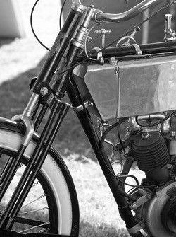Vintage motorcycle action
