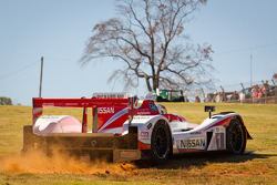 #1 Greaves Motorsports Zytek Z11SN Nissan: Alex Brundle, Alex Buncombe, Tom Kimber-Smith off the track