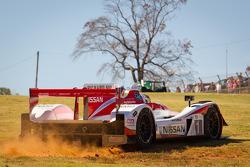 #1 Greaves Motorsports Zytek Z11SN Nissan: Alex Brundle, Alex Buncombe, Tom Kimber-Smith off the track
